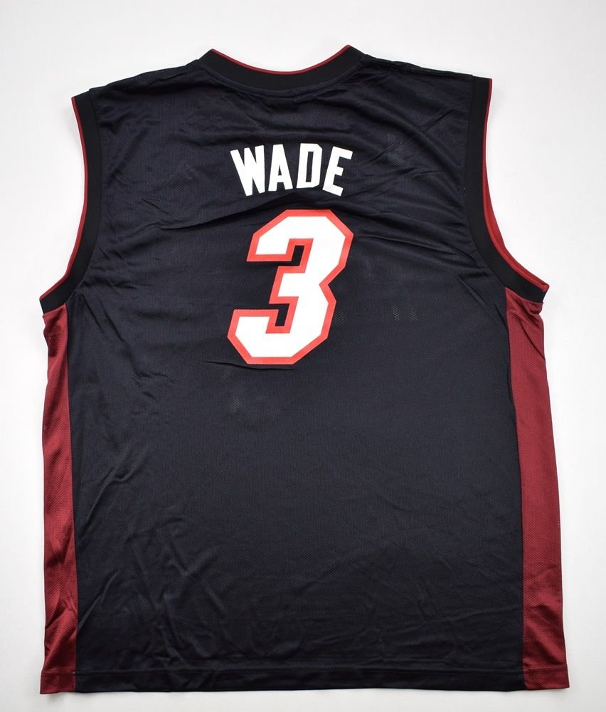 big sale 3de2a 64b50 MIAMI HEAT *WADE* NBA ADIDAS SHIRT XL