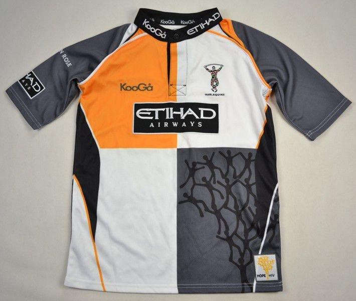 46627389086 NEC HARLEQUINS RUGBY KOOGA SHIRT L. BOYS Rugby \ Rugby Union \ Harlequins    Classic-Shirts.com