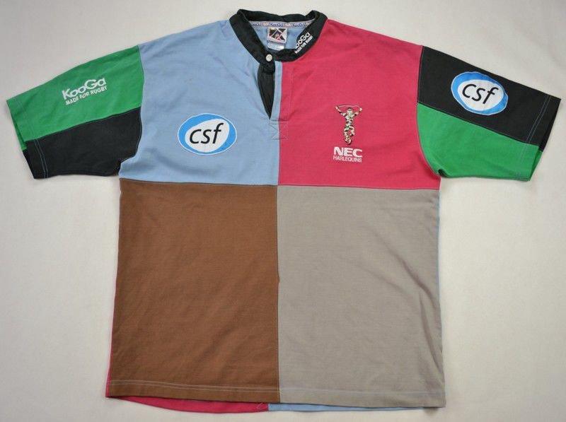 d95b7bbbbd9 NEC HARLEQUINS RUGBY KOOGA SHIRT XL Rugby \ Rugby Union \ Harlequins    Classic-Shirts.com