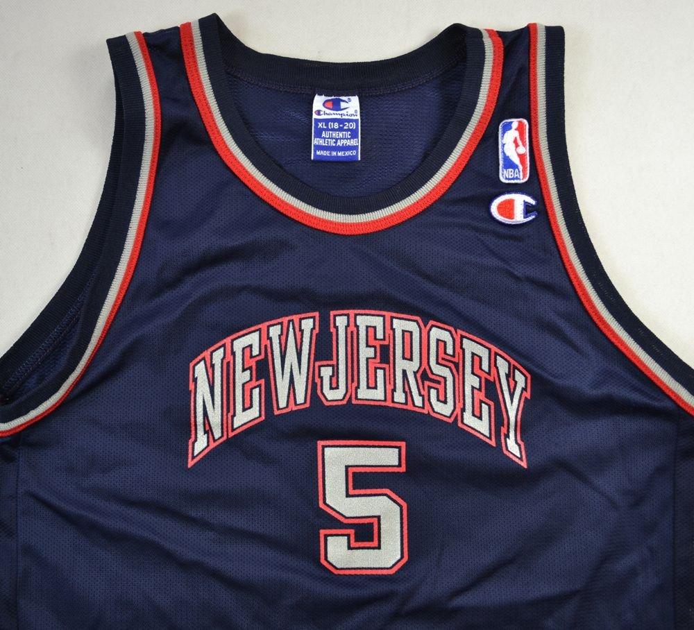 brand new 42650 eab60 NEW JERSEY NETS NBA *KIDD* CHAMPION SHIRT XL. BOYS 18-20