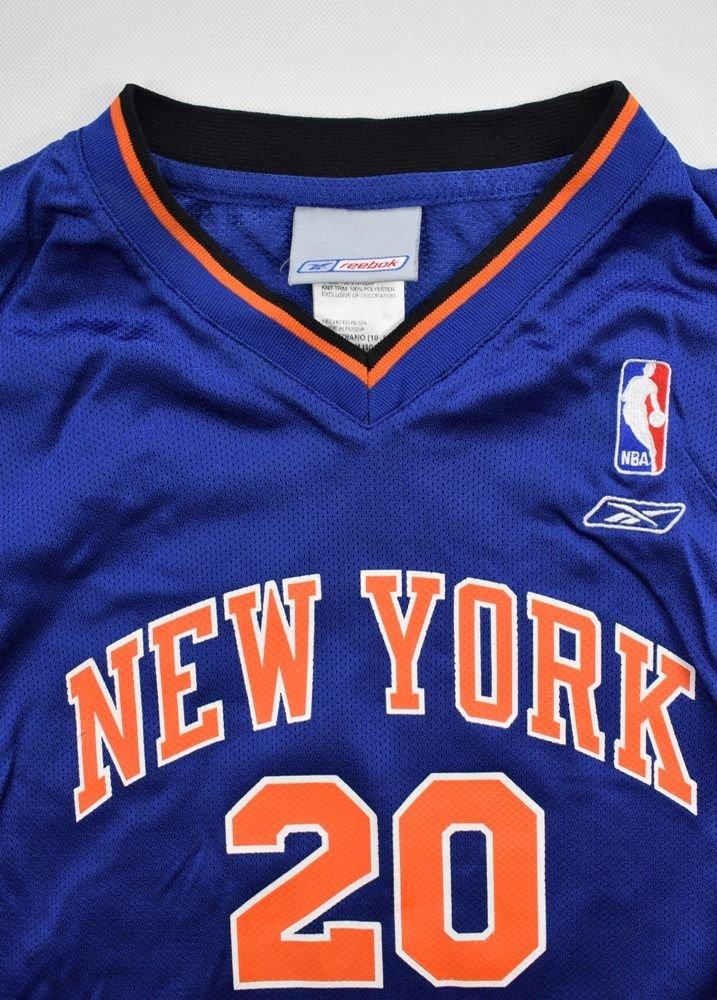 NEW YORK KNICKS *HOUSTON* NBA REEBOK SHIRT M. BOYS