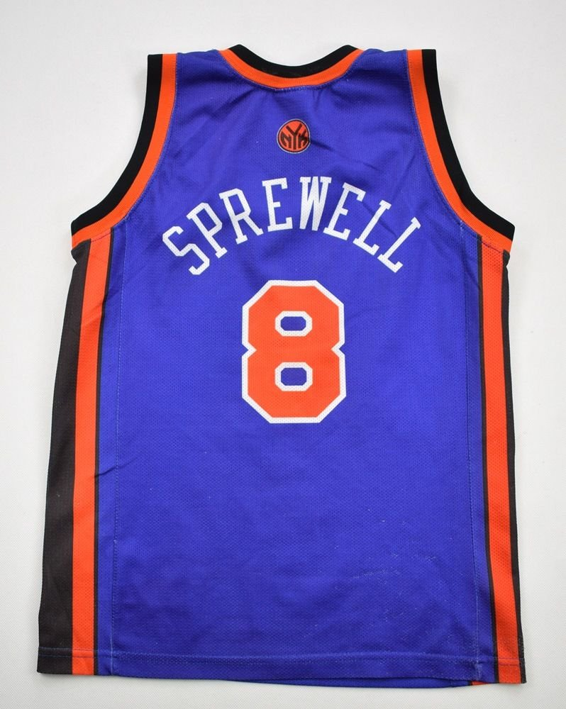 san francisco d92c9 35e11 NEW YORK KNICKS *SPREWELI* NBA CHAMPION SHIRT M. BOYS