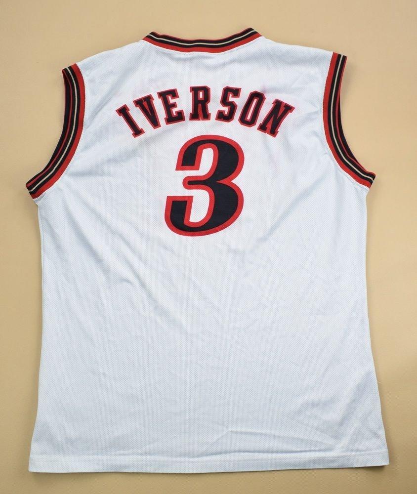 premium selection 90635 f8e66 PHILADELPHIA SIXERS *IVERSON* NBA CHAMPION SHIRT L