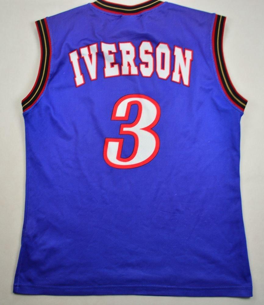 detailed look b75e2 ac0ea PHILADELPHIA SIXERS *IVERSON* NBA CHAMPION SHIRT S