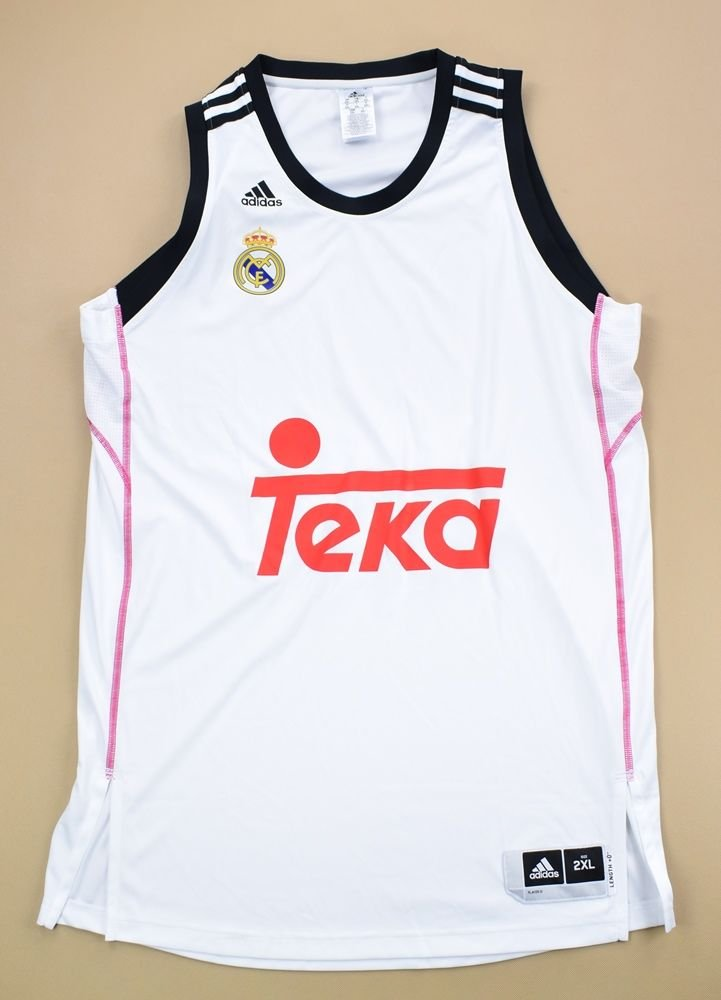 big sale 6e49c d3c6d REAL MADRID BASKETBALL ADIDAS SHIRT 2XL