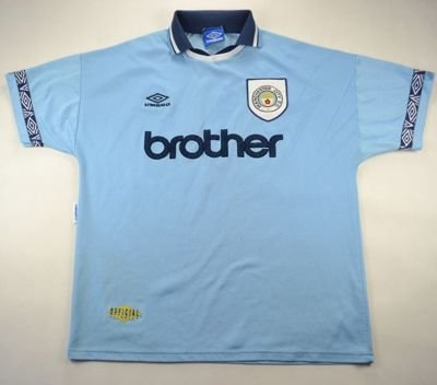 1993-95 MANCHESTER CITY *SMITH* SHIRT XL