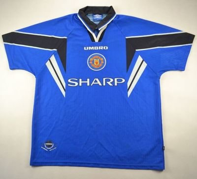 1996-98 MANCHESTER UNITED SHIRT XL