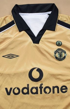 2001-02 MANCHESTER UNITED BILATERAL SHIRT M