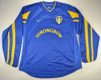 2001-03 LEEDS UNITED *MILLS* SHIRT XL