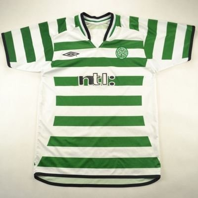 2001-03CELTIC GLASGOW SHIRT L. BOYS