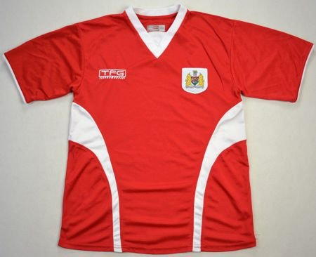 2005-06 BRISTOL CITY FC SHIRT L. BOYS