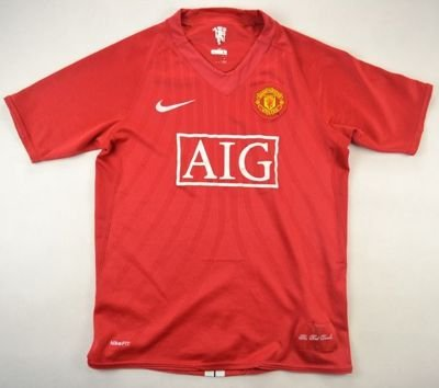 2007-09 MANCHESTER UNITED SHIRT L. BOYS