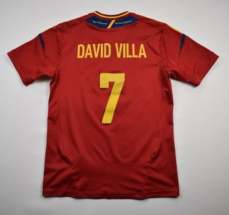 2011-12 SPAIN *DAVID VILLA* SHIRT L. BOYS 164 CM