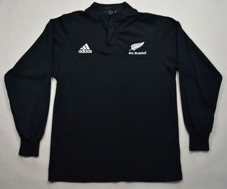 ALL BLACKS NEW ZEALAND RUGBY ADIDAS SHIRT S