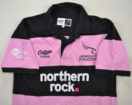 NEWCASTLE FALCONS RUGBY COTTON TRADERS SHIRT M
